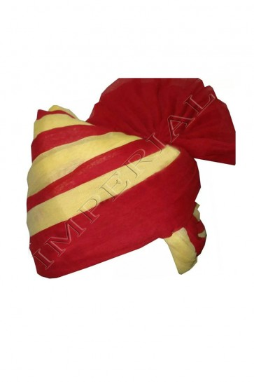 Gorgeous Red and Cream Turban