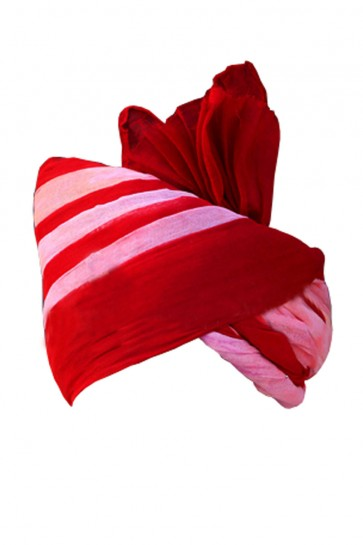 Desirable Red and Pink Cotton Turban