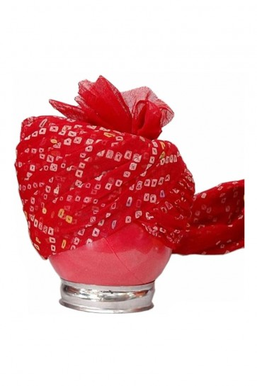 Stylish Red Cotton Wedding  Safa