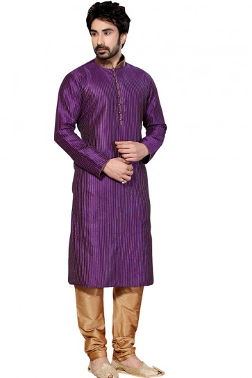 Desirable Violet All Function Wear Dhupion Designer Kurta