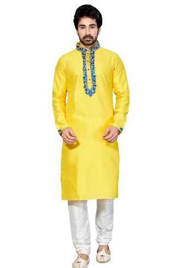 Excellent Yellow Dhupion All Function Wear Designer Kurta Pajama