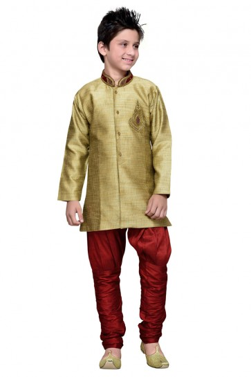 Charming Golden Hand Work Designer Kurta