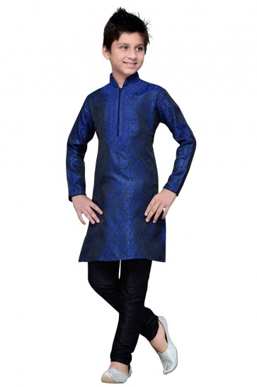 Gorgeous Blue All Function Wear Embroidered Work Brocade Designer Kurta