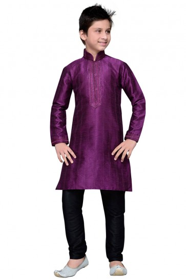 Classic Purple All Function Wear Thread Work Designer Kurta