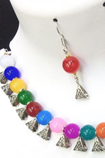 Supreme Multi Color Long Beads Necklace