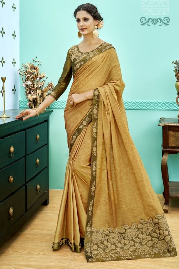 Optimum Orange Soft Weaving Embroidered Saree With Soft Weaving Blouse