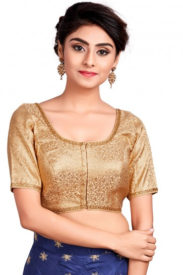 Optimum Golden Brocade Embroidered Blouse