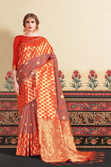 Art Silk Fabric Weaving Work And Jacquard Work Designer Multi Color Lovely Saree And Blouse
