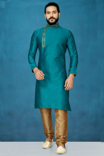 Green Silk Fabric Designer Indo Western With Dhupion Bottom