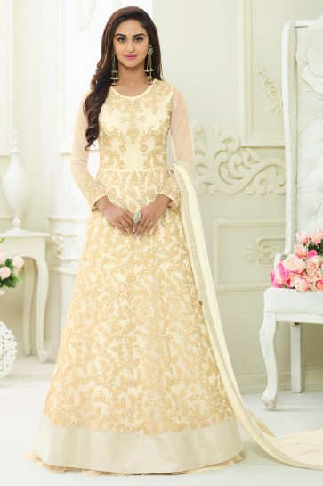 Classic Off White Georgette Casual Designer Salwar Suit
