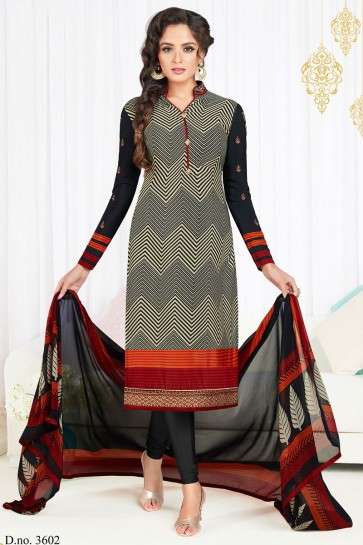 Classic Black and Cream Embroidered Work Designer Salwars Suit