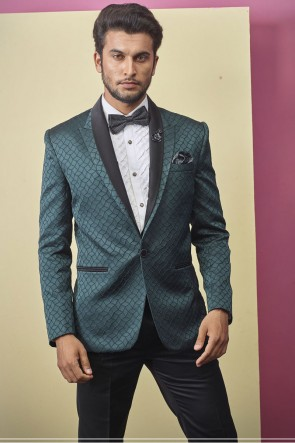 Green Imported Fabric Readymade Mens Suit