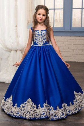 Admirable Blue Silk Embroidered Work Party Wear Gown