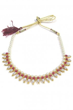 Admirable Pink Function Wear Necklace Set