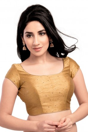 Beautiful Golden Dhupion and Silk Blouse