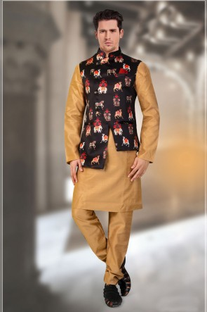 Multi Color Satin Fabric Only Jacket