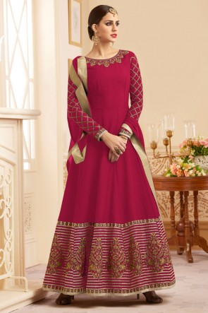 Graceful Pink Heavy Silk Salwar Suit With Nazmin Dupatta