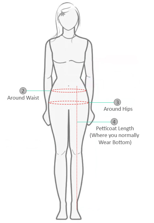 Petticoat Measurement Information